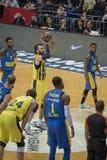 Istanbul/Turquie - 20 mars 2018 : Joueur de basket professionnel de Luigi Datome pour Fenerbahce Photos stock