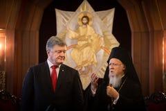 Istanbul, Turquie - 3 novembre 2018 : Patriarcat oecuménique et son patriarche oecuménique de Tout-sainteté Bartholomew au cours  images libres de droits
