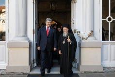 Istanbul, Turquie - 3 novembre 2018 : Patriarcat oecuménique et son patriarche oecuménique de Tout-sainteté Bartholomew au cours  image libre de droits