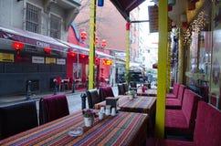 Istanbul, Turquie Restaurant rue Photographie stock
