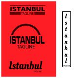 Istanbul typography set, flat designs. EPS file available. see more images related royalty free illustration