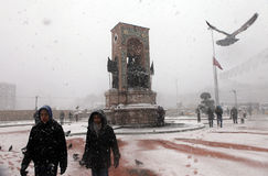 Istanbul under Snow Royalty Free Stock Photo