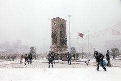 Istanbul under Snow Stock Image
