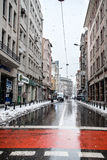 Istanbul under snow Royalty Free Stock Images