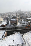 Istanbul under Snow Stock Images