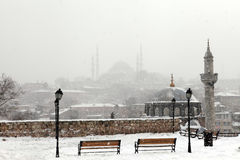 Istanbul under Snow Royalty Free Stock Photos