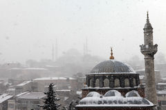 Istanbul under Snow Royalty Free Stock Image