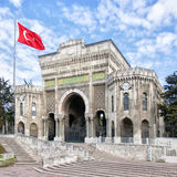 Istanbul university 03. The grand ornate entrance to the istanbul university in Turkey Stock Photo