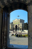 Istanbul University view from Beyazid Mosque Stock Image
