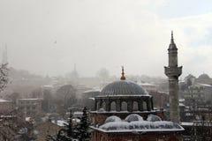 Istanbul unter Schnee Stockbilder