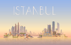 Istanbul. Vector illustration. Royalty Free Stock Images