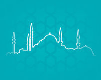 Istanbul. Vector illustration of the cityscape of Istanbul Royalty Free Stock Images