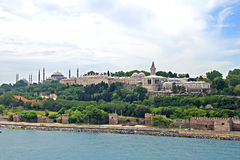 Istanbul, view from Bosporus strait Stock Photo