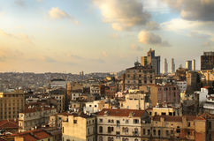 Istanbul, the view of the city. At the sunset Royalty Free Stock Photo
