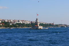 Istanbul. View from cruise in Istanbul Royalty Free Stock Images