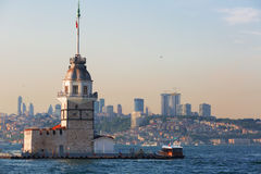 Istanbul, view of the Maiden's Tower Royalty Free Stock Images