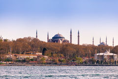 Istanbul View from the sea. Hagia Sophia. Travel Turkey Stock Photography