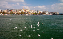 Istanbul, view from the sea Royalty Free Stock Images
