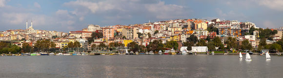 Istanbul, view from the sea Royalty Free Stock Photos