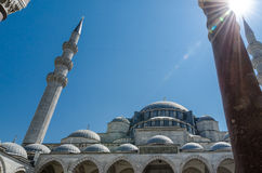 Istanbul views. Mosque Sultanahmet or Blue mosque Royalty Free Stock Photography