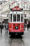 Istanbul views. Old red tram Stock Photo