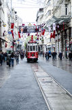 Istanbul views. Old tram Stock Photos