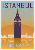 Istanbul vintage poster Royalty Free Stock Photography