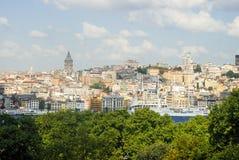 Istanbul-Vogelperspektive lizenzfreie stockfotografie