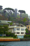 Istanbul waterfront houses Royalty Free Stock Photos