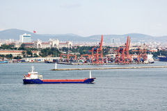 Istanbul wharf Stock Images