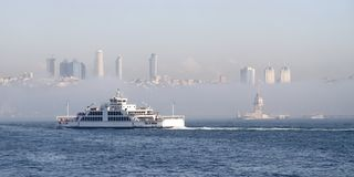 Istanbul in winter Royalty Free Stock Photo
