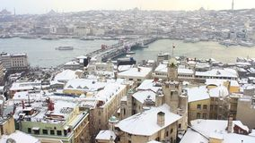 Istanbul in Winter stock video
