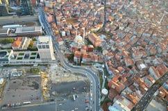 Istanbuls-Platz an der Spitze der 280-Meter-Wolkenkratzeransicht Stockbild