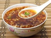 Istante cinese della minestra immagini stock