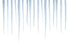 istappar isolerade verklig white Arkivbilder