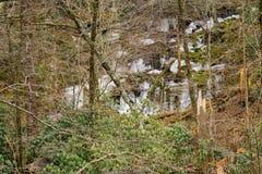 Istappar på bergssidan Royaltyfri Fotografi