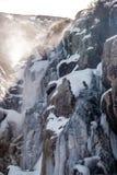 Istappar på Timberline faller vattenfallet Arkivbild