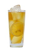 IsTea med citronen royaltyfria bilder