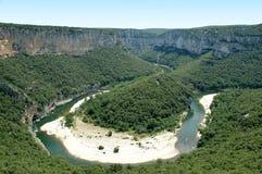 Isthme - gorges d'Ardeche Photos stock