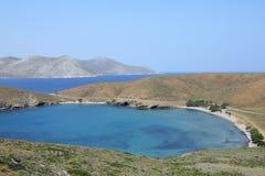 Isthmus of the island Astypalea, Greece Stock Photos