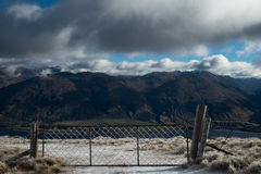 Isthmus Peak track in New Zealand, Wanaka. Royalty Free Stock Image