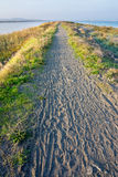 The isthmus between the sea and the lake in Pomorie, Bulgaria Royalty Free Stock Photography