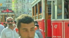 Istiklal-Alleenstau in Istanbul Stockbilder