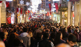 Istiklal Avenue in Istanbul City Royalty Free Stock Image