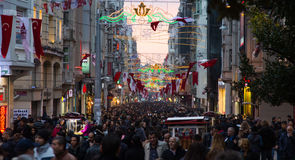 Istiklal Avenue in Istanbul, Turkey Stock Photos