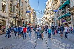 Istiklal Avenue in Istanbul Stock Images