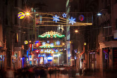 Istiklal avenue at night Stock Photo