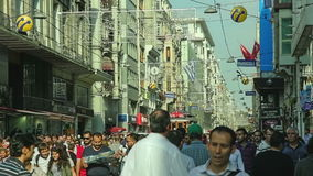 Istiklal Avenue rhythm stock video footage