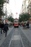 Istiklal avenue and tram in Istanbul Royalty Free Stock Photo