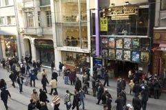 Istiklal Caddesi, beyoglu-Istanboel Stock Afbeeldingen